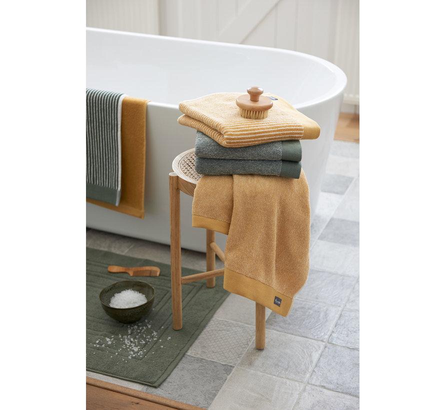 Handdoek HOME Petit Ligne kleur Olive (BAKC15101)