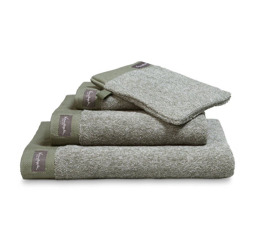 Handdoek HOME Mouliné kleur Olive (BAKC18201)