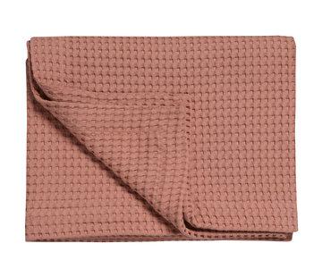 Vandyck HOME Pique waffle blanket 160x250 cm Brick Dust-124