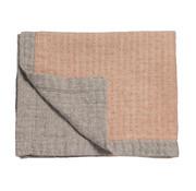 Vandyck PURE 45 plaid / bedspread 160x250 cm Brick Dust (cotton / linen)