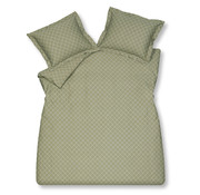 Vandyck Duvet cover HEXAGON Light Olive 240x220 cm (satin cotton)