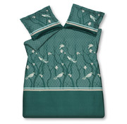 Vandyck Duvet cover SMALL BIRDS Mint Green 200x220 cm (satin cotton)