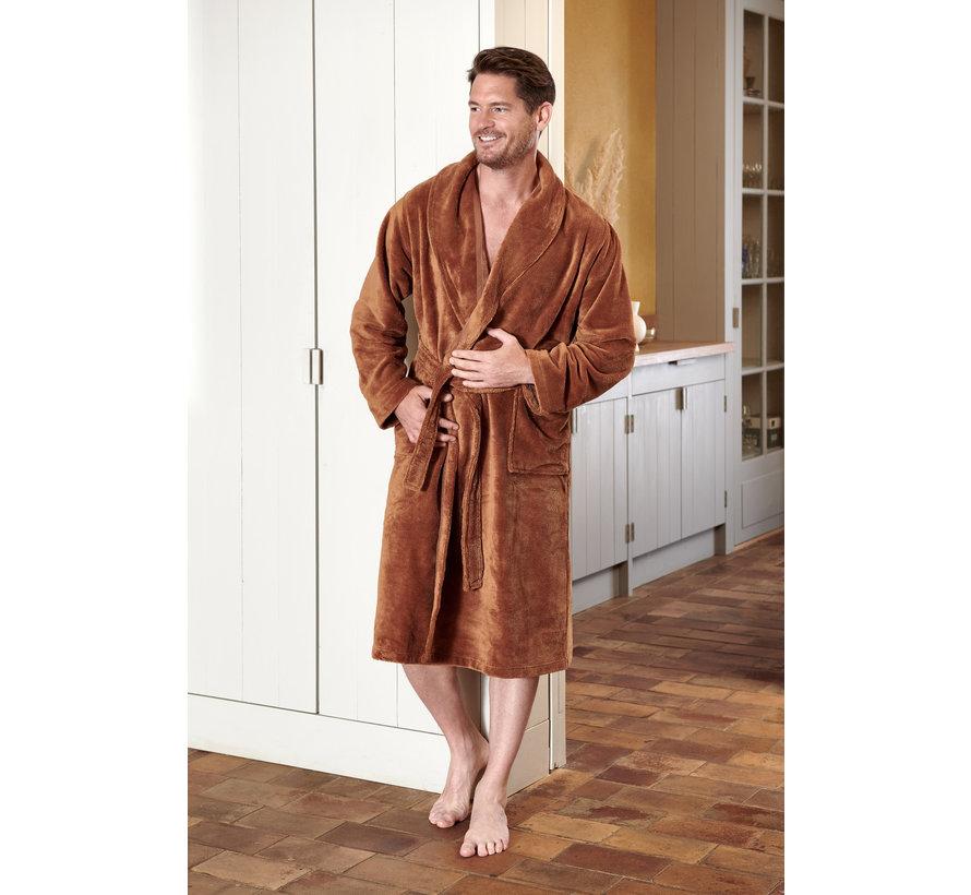 BEAUMONT bathrobe color Cognac-162 (BAGE14201)