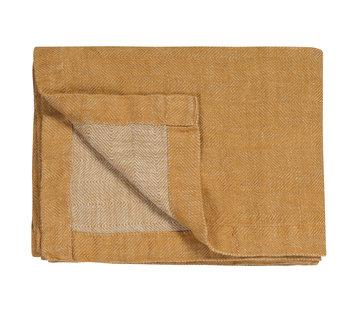Vandyck PURE 52 plaid / bedspread 160x250 cm Sandy Gold (linen)