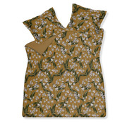 Vandyck Duvet cover FLOATING TWIGS Sandy Gold 240x220 cm (satin cotton)
