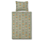 Vandyck Duvet cover WILDLIFE KIDS Light Olive 140x220 cm (cotton)
