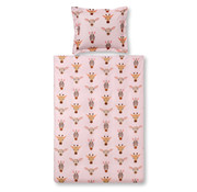 Vandyck Duvet cover junior WILDLIFE KIDS Sepia Pink 120x150 cm (cotton)