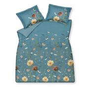 Vandyck Duvet cover WILD FLOWER Storm Blue 200x220 cm (satin cotton)