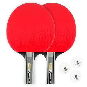 Table tennis bat set Cornilleau Sport duo pack red