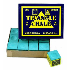 Triangle billiards chalk 12 pieces green