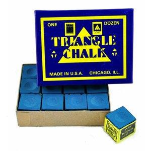 Triangle biljart krijt 12 stuks blauw
