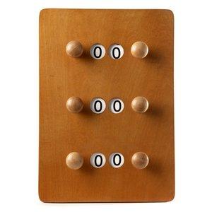 Scorebord klein Licht bruin