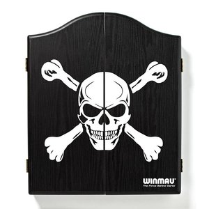 Winmau dartboard cabinet skull