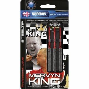Winmau Mervyn King steel tip darts silver