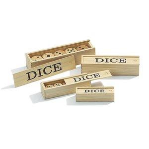 Philos houten dobbelstenen 25mm