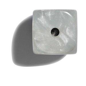 Philos parelmoer wit dobbelstenen 12mm 36st.