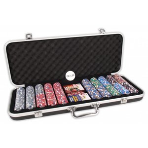 Pokerset DLX 500 Clay Chips 13.5gr Valuie
