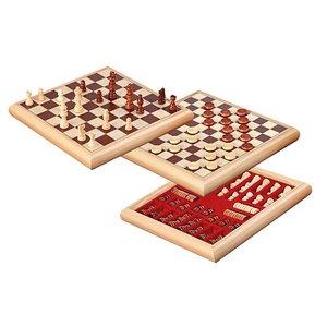 houten schaak-dam set 32x32cm
