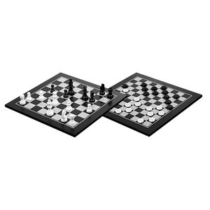 houten schaak-dam set 40x40 cm