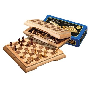 travel chess set magnetic, 17mm field