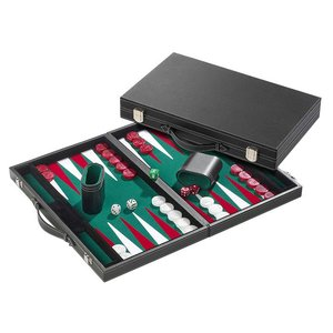Backgammon groen groot 46,5x28cm