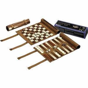 Backgammon, schaak- en dam reisset rol