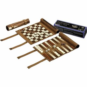 Philos Backgammon, chess and king travel set role