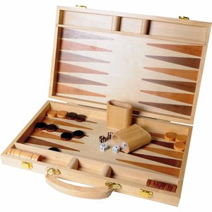 Buffalo backgammon ingelegd hout 38,1 cm