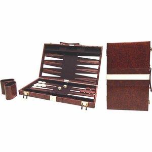 Backgammon bruin 38 x 48 cm