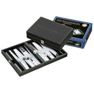 Backgammon Tinos klein grijs 23 x 16,5cm
