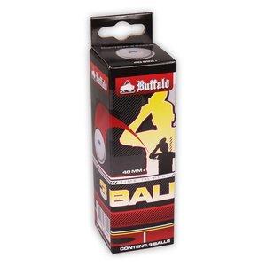 Tafeltennisballen Buffalo Hobby 1* 3st. cellfree