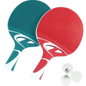 Table tennis Bat Cornilleau Tacteo Duo Pak Red / Gro
