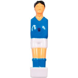 Blue / white soccerman 13 mm. H = 10.3 cm