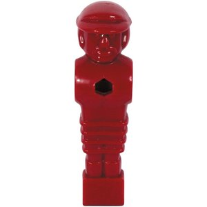 Voetbaltafelpop rood 16mm