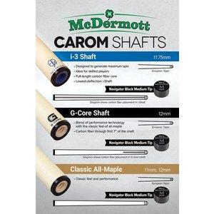 McDermott carom shaft (implementation: Maple 11,0mm)