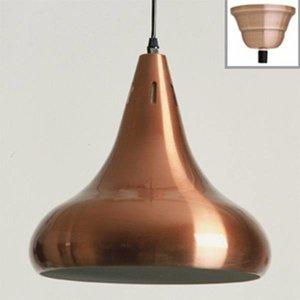 lamp klassiek rood-koper (Uitvoering: hoogglans)
