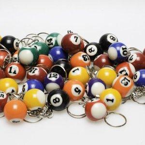 Sleutelhanger poolball 25 mm