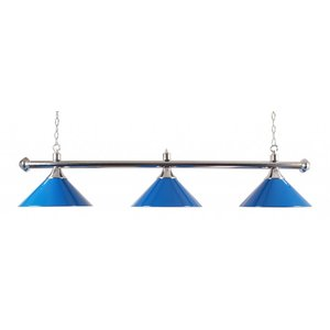 Bar lamp 3 shade blue chrome