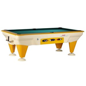 Sam coin insert Outdoor pool table. Tempo