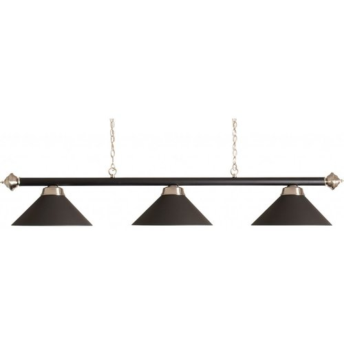 Verlichting billiard lamp bar with 3 caps matt black