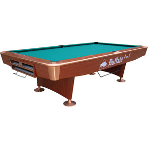 Pooltafel Buffalo Pro-II 9 foot bruin, drop pocket