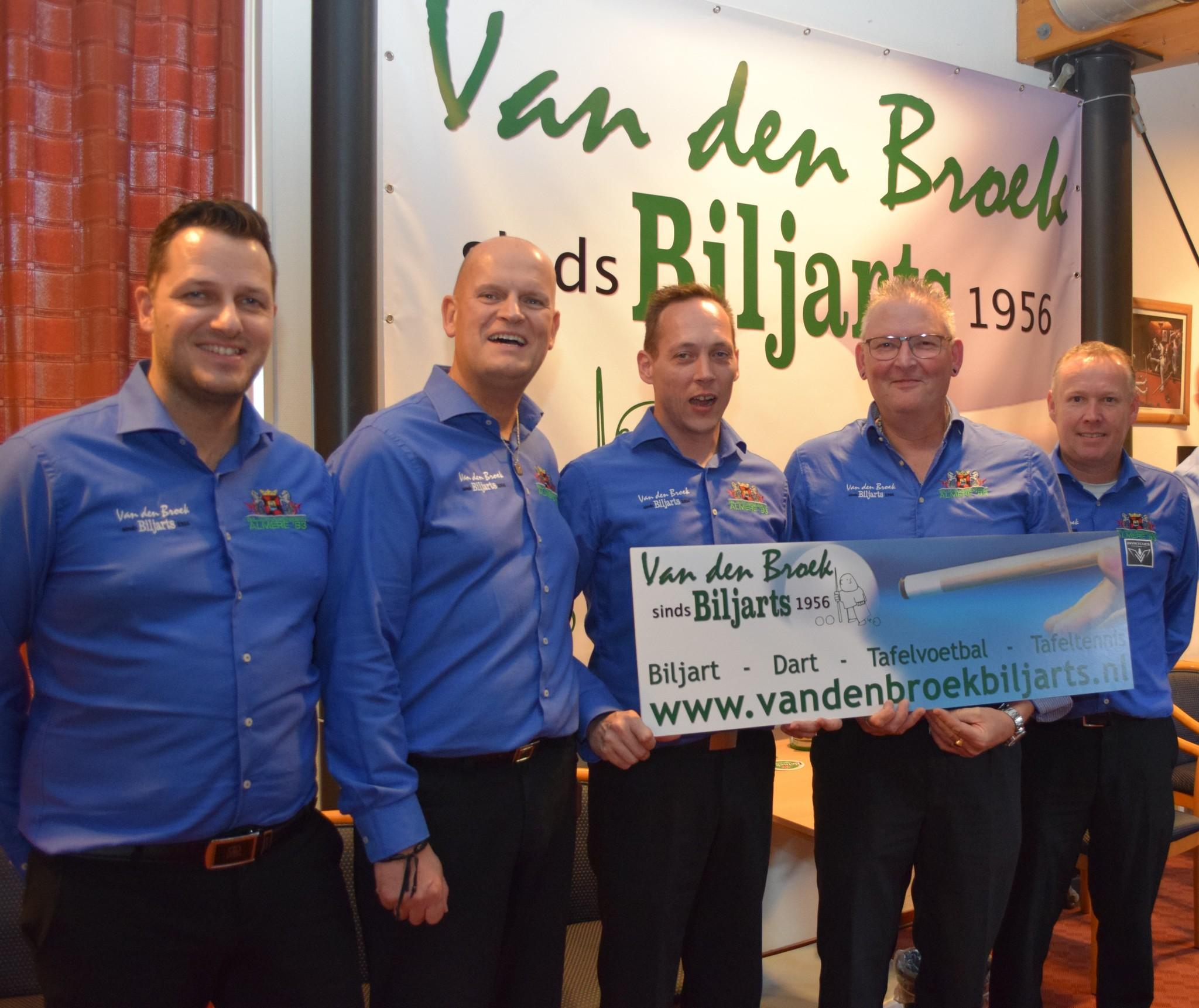 Top team Van den Broek Biljarts/ Almere 83