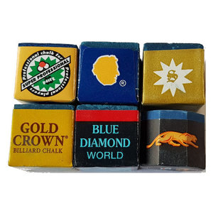 6 carom or pool billiard chalk to try