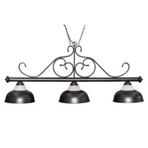 """Biljartlamp """"Opera"""", zwart, 3 bellen, a˜38cm, 156cm"""