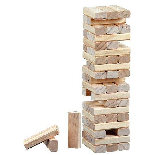 "PHILOS  Timber ""vallende toren"" 75 x 75 x 285 mm"