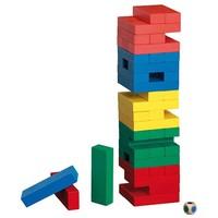 PHILOS  Timber vallende toren gekleurd 75x75x300mm