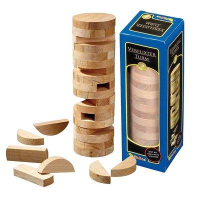 Timber vallende toren rond 75x75x270mm