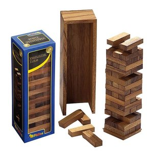 Timber vallende toren deluxe 80x70x235mm