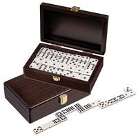 PHILOS  Domino dubbel 9 walnoten box 20x12,5cm