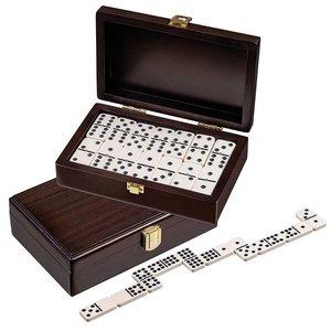 Domino dubbel 9 walnoten box